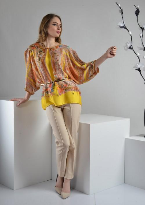 ASTIBO - елегантни панталони во нежна крем нијсанса