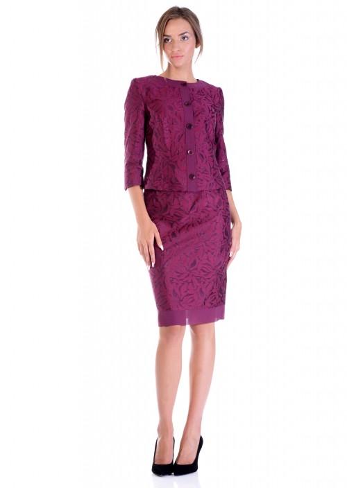 LINEA COLLECTION Еднобојна сукна од памучен жакард