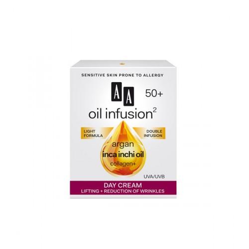 AA Oil Infusion +50 дневен крем за лифтинг и намалување на брчки 50 мл