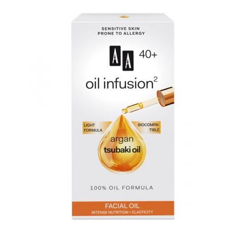 AA Oil Infusion +40 масло за лице за интензивно потхранување и еластичност 15 мл