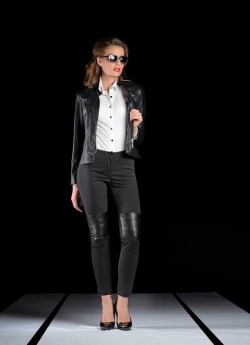 ASTIBO Црни тесни панталони
