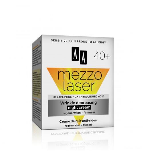 AA MEZZO LASER + 40 ноќен крем за намалување на брчки 50 мл