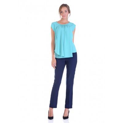 LINEA COLLECTION Трендовска блуза од жоржет со набор