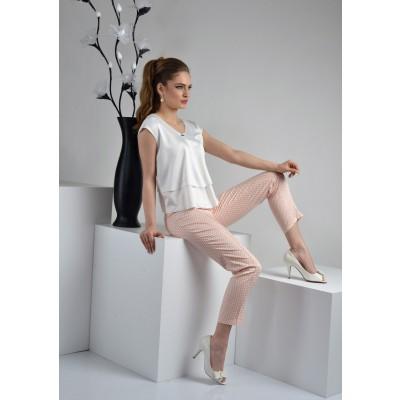 ASTIBO - шик панталони во праска боја