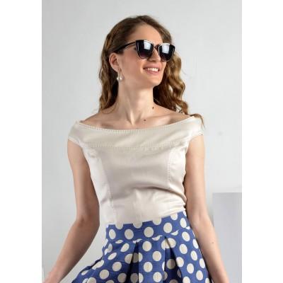 ASTIBO - сет со маица и здолниште во ретро стил