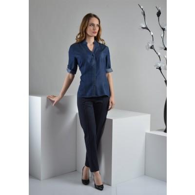 ASTIBO - памучна кошула од тенцел со ¾ ракави