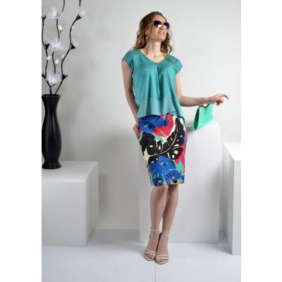 ASTIBO - сет со здолниште и маица во интересни пролетни бои
