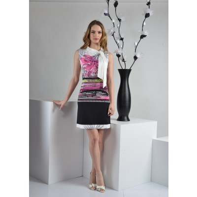 ASTIBO - фустан без ракави со интересен дезен