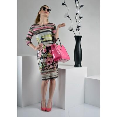 ASTIBO - фустан со кратки ракави со интересен дезен