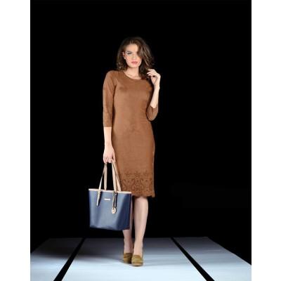 ASTIBO Тренди фустан со ефект на превртена кожа