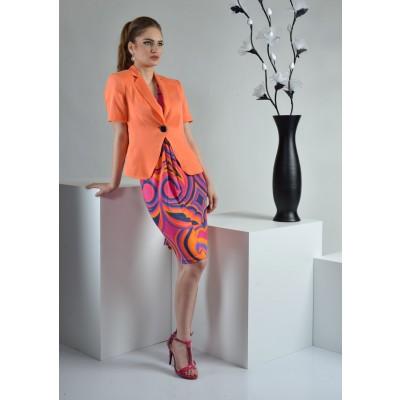 ASTIBO - класично сако во портокалова боја