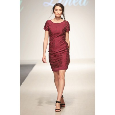 LINEA COLLECTION Фустан од памучен жоржет