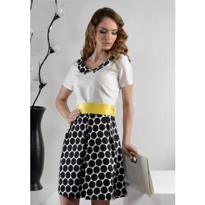 ASTIBO - фустан со кратки ракави и интересен дезен