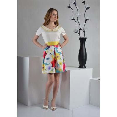 ASTIBO - фустан со цветен дезен