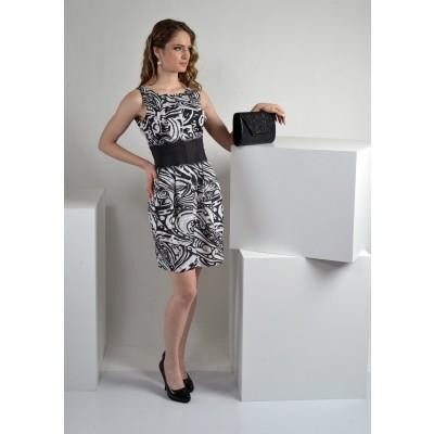 ASTIBO - црно-бел фустан со ретро крој