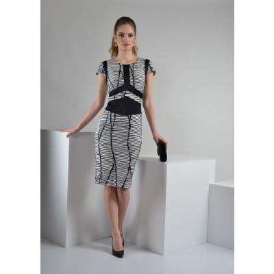 ASTIBO -  фустан со шик графички дезен