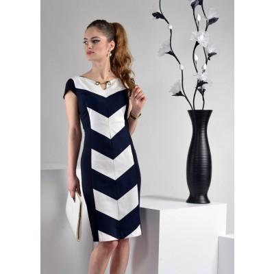 ASTIBO -  фустан со интересен геометриски дезен