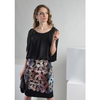 ASTIBO -  Фустан со шик дводелен ефект