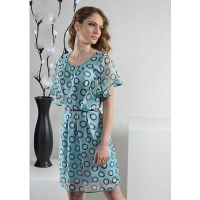 ASTIBO -  фустан во пастелна боја со интересен дезен