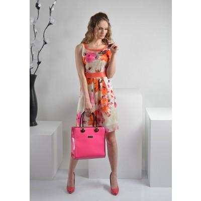 ASTIBO -  елегантнен фустан во тренди пролетни бои