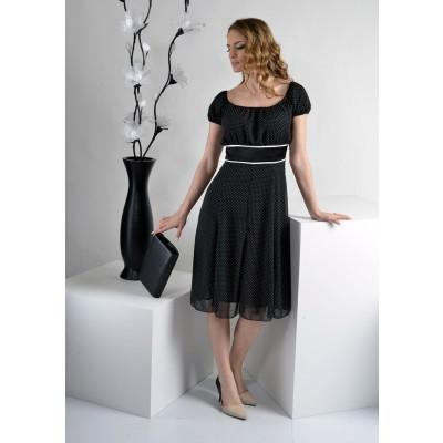 ASTIBO -  фустан во ретро стил со бели точки