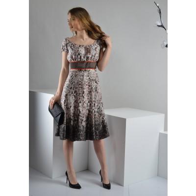 ASTIBO -  фустан во ретро стил со интересен животински дезен