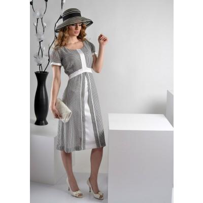 ASTIBO -  елегантен фустан  со лежерен крој