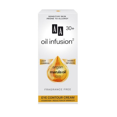 AA Oil Infusion +30 крем за околу очи, хидратација и намалување на брчки 15 мл