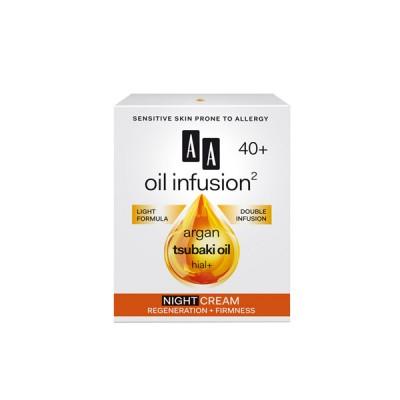 AA Oil Infusion +40 ноќен крем регенерација + измазнување 50 мл