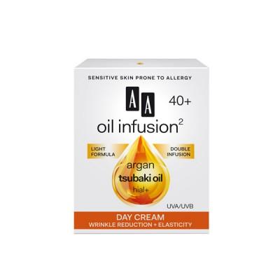 AA Oil Infusion +40 дневен крем намалување на брчки + еластичност 50 мл