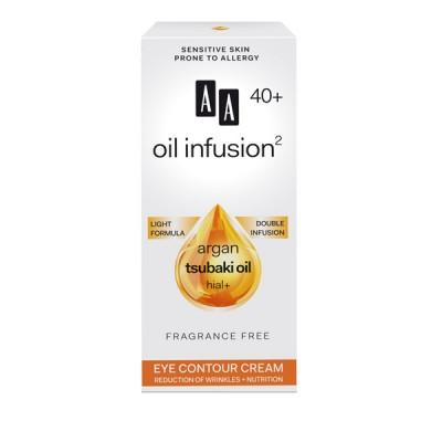 AA Oil Infusion +40 крем за околу очи, намалување на брчки и потхранување 15 мл