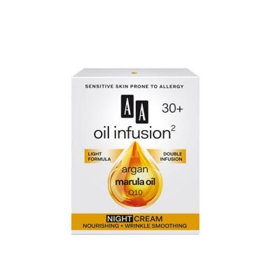 AA Oil Infusion +30 ноќна крема за потхранување и израмнување на брчки 50 мл