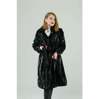 ASTIBO Крзнен капут црн
