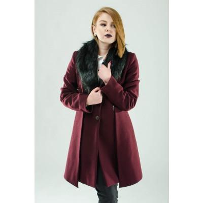 ASTIBO Бордо капут со крзно