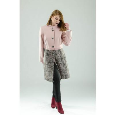 ASTIBO Розев капут со асиметричен крој